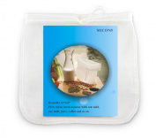 Silcony Amazing Nut Milk Bag - Big Size 30cm x 30cm - Commercial Grade Reusable FDA Nylon Mesh Strainer for Nut Milk, Soy Milk, Juice, Coffee and So Much More...