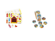 12 Make a Nativity Scene Sticker Sheets & 100 HAPPY Birthday JESUS Stickers - CHRISTMAS VBS Religious Activity CRAFTS