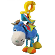 Baby donkey plush clip clamp animal rattles toys hanging Bell band