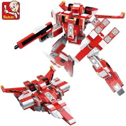 Sluban M38-B0257 building block 331pcs robot Warrior Transform Red Spider Robot spaceship compatible Christmas toy Gifts simple package without original box