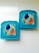 Disney Pixar Finding Dory Sandwhich Container BPA Free 2 pc set