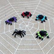 Dealglad® New Realistic Fake Spider Plush Puppet Prank Jokes Toy Halloween Party Decorations Props (30cm, Colourful) - Random Colour
