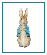 Peter Rabbit inspired by Beatrix Potter Counted Cross Stitch Pattern