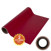 Angel Crafts 30cm by 2.4m Wild Cardinal Red Self Adhesive Vinyl Roll with THICK CORE for BEST Cutting Memory - for Cricut, Silhouette Cameo, Craft Cutters, Printers, Letters, Wall Decor, Decals, & More!