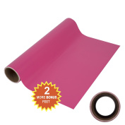 Angel Crafts 30cm by 2.4m Magenta Self Adhesive Vinyl Roll with THICK CORE for BEST Cutting Memory - for Cricut, Silhouette Cameo, Craft Cutters, Printers, Letters, Wall Decor, Decals, & More!