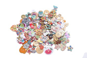 DECORA 200pcs Vibrant Designs Buttons for Crafts Scrapbooking or Sewing