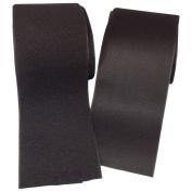 Ninepeak - 7.6cm Black Sew on Hook and Loop hook and loop Style, 2 Yards