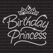 Birthday Princess Iron On Rhinestone Crystals and Rhinestuds T-shirt Transfer by Jubilee Rhinestones