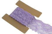 Lace Fabric Stretch Elastic JLIKA Brand 5.7cm Wide Trim Lace for Headbands Garters 20 Yards