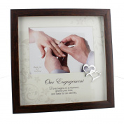 "Sweet and Simplistic Glass ""Our Engagement"" 18cm x 13cm Photo Frame by Haysom Interiors"