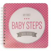 "NEW! Baby First Year Memory Mini Book for Two Moms LGBT Family. Poly Cover. Intimate, travel size memory keeper record book and journal. 13cm x 13cm - Best Shower Gift! (Pretty In Pink ""Modernista"""