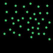 Hatop 100PC Kids Bedroom Fluorescent Glow In The Dark Stars Wall Stickers