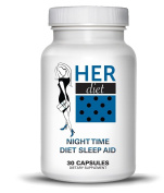 HERdiet PM Night Time Diet Sleep Aid For Women Extra Strength Supplement with Appetite Suppressant Pills