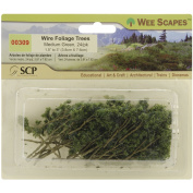 Wire Foliage Trees 3.8cm To 7.6cm 24/Pkg-Medium Green