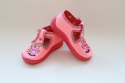 Slippers,Toddlers, Girls, . , Snap, Laced shoes, Multicoloured, Lovely colours,Countured Footbed,Delicately stiffened, Natural material,Anti-skidding, UK size 2, 3, 4, Pink Pony