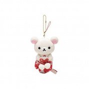 San-X Korilakkuma in a Winter Glove Mascot Series Knit Mini Charm Plush Doll Chain