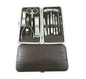 12pcs Nail Clipper Kit Nail Care Set Pedicure Scissor Tweezer Knife Ear pick Utility Manicure Set Tools