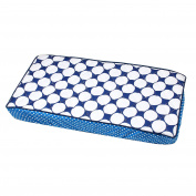 Bacati Mix and Match Dots Changing Pad Cover, Navy