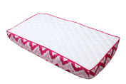 Bacati Mix and Match Zigzag Changing Pad Cover, Pink