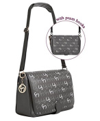 Clevamama Initials Collection Ellie Messenger Baby Changing Bag & Mat