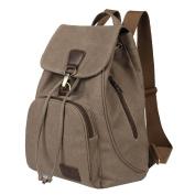 Retro Canvas Backpack, Fletion Vintage Designer Rucksack Travel Casual Shoulder Bag Handbag College Daypack Satchel Computer Laptop Bags, Ideal for Sports, Gym, Hiking, Travelling, Camping