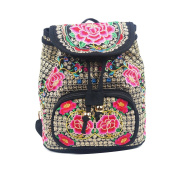 Butterme Women's/ Girl's Traditional Crafts Retro Ethnic Style Embroidery Canvas Backpack Bag