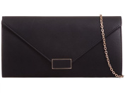 Womens Ladies Faux Leather Fold Over Flap Prom Party Evening Dressy Occasion Hand Clutch Bags - U50