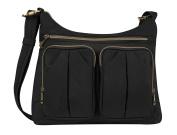 Travelon Anti-Theft Signature Twin Pocket Hobo Bag