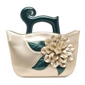 KAXIDY Fashion Flower Handbag Patent Leather Tote Shoulder Bag Shopper Hobo Bag Messenger Flowers Handbags