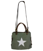 Canvas Leather women's bag Shopper * Star * 2 Sizes Available