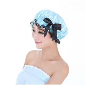 EQLEF® Elastic Waterproof Double Layers Women's Shower Cap for Bath Spa