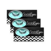 SocialEyes Sexy AF Lashes Handmade Fake False Eyelashes Eye Lashes 3 Pack