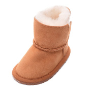 Lambland Childrens Sheepskin Boot with Flexible Rubber Sole and Velcro Tab