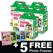 Fujifilm Instax Mini Film (100 shots) + 5 FREE Photo Frames