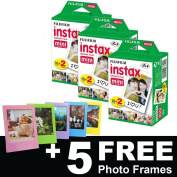 Fujifilm Instax Mini Film (60 shots) + 5 FREE Photo Frames