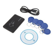 KKmoon Contactless 14443A Card Encoder IC Card Reader Writer with 5pcs Cards 5pcs Key Fob USB Interface 13.56MHZ RFID