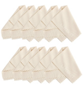 10 Pack Microfiber Cleaning Cloth 15x18cm - For Eyeglass, Computer Screen, Jewellery, iPhone, Kindle, Camera Lens, Glass, Stainless Steel, Silver and Delicate Surfaces
