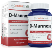 #1 D-Mannose Supplement - Combat Urinary Tract Infections & Support Bladder Health - 1500mg Per Serve - 100% Pure With No Preservatives or Gluten - Made In The USA - 90 Capsules