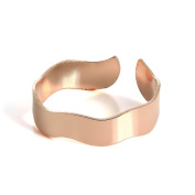 18ct Rose Gold Dipped Sterling Silver Wavy Band Toe Ring