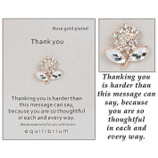 "Equilibrium Rose Gold Plated ""Thank You""Sentiment Pin"