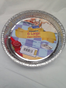 12 x round foil flan dish - 215mm x 24mm disposible tray