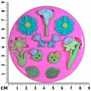 Springtime Flowers Daffodil Daisy Tulip Lilly Silicone Mould Mould for Cake Decorating Cake Cupcake Toppers Icing Sugarcraft Tool by Fairie Blessings