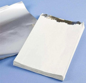 500 x Hot Food White foil lined bag