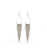 TININNA Vintage Retro Long Tassel Dangle Drop Earrings For Women Ladies Silver