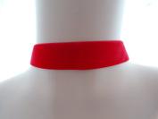 Red Velvet 22mm Choker Necklace