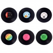 6 Pack Classic Vinyl Record Beverage Coasters CPBD-01