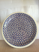 Polmedia Polish Pottery 28cm Stoneware Plate H0220A Hand Painted from Zaklady Ceramiczne in Boleslawiec Poland. Shape S613A(GU1014) Pattern P2099A