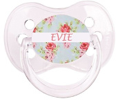 PERSONALISED UNIQUE DESIGNER DUMMY SOOTHER PACIFIER - FLORAL