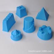 Kinetic Motion Sand Building Castle Mould Modelling Toy, 6 pack