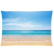 Buythecase Unique Fashion Pillowcase Design Tropical Paradise Beach Scene with the Sea (2) Size 50cm X 80cm custom pillow cases